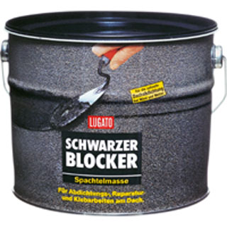 Schwarzer Blocker Spachtelmasse