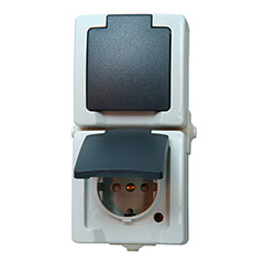 KOPP Feuchtraum Aufputz-Schalterserie