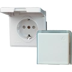 KOPP Feuchtraum Aufputz-Schalterserie arktis-weiß