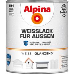 ALPINA Weißlack für Außen