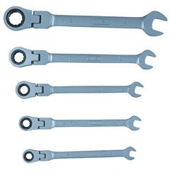 CONNEX Gelenkratschengabelschlüssel, 5-teilig