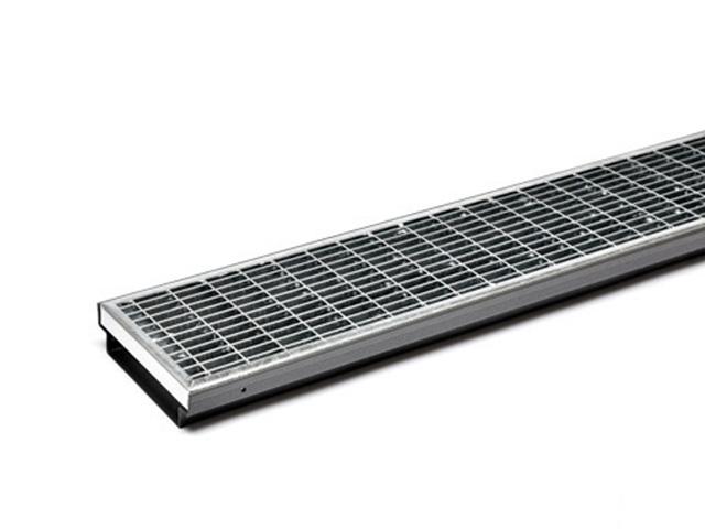 AquaDrain® KRU-GV Gitterrost Kastenrinne 40 mm ungeschlitzt