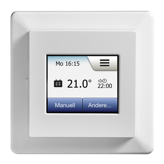 IndorTec® THERM-E TD Touchscreen Thermostat inkl. Bodenfühler