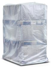 PE-Palettenhauben, transparent trüb