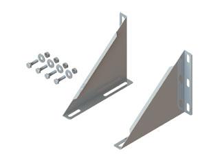 Dreieckskonsole für Auflageplatte und Fußteil offen als Zwischenstütze