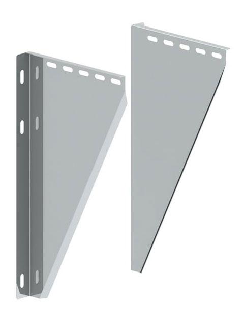Einzelteile - Konsolblechpaar verstellbar von 50 - 150 mm Wandabstand