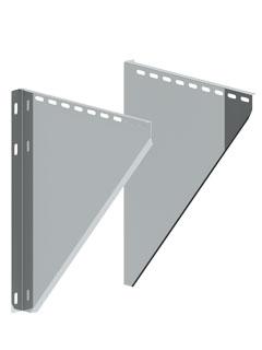 Einzelteile - Konsolblechpaar verstellbar von 250 - 360 mm Wandabstand