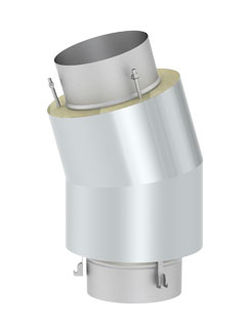 Überdruckdichte Verbindungsleitung - Bogen 15° für Verbindungsleitung