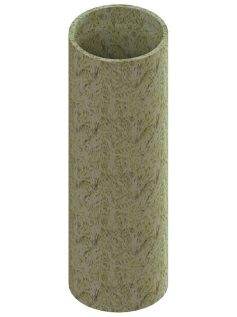 Einzelteile - Dämmrohr 660 mm mit ausgefräster Muffe