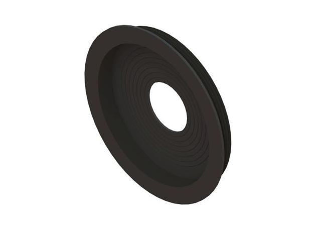 Einzelteile - Anschlussmembran EPDM schwarz 120° C für Überdruck (für Öl und Gas)
