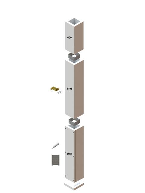 Schnellkalkulation - KombiLine F90 Schacht in Leichtbauweise