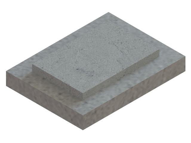 Einzelteile F90 einzügig - Doppelte Fußplatte für einzügige Schachtelemente