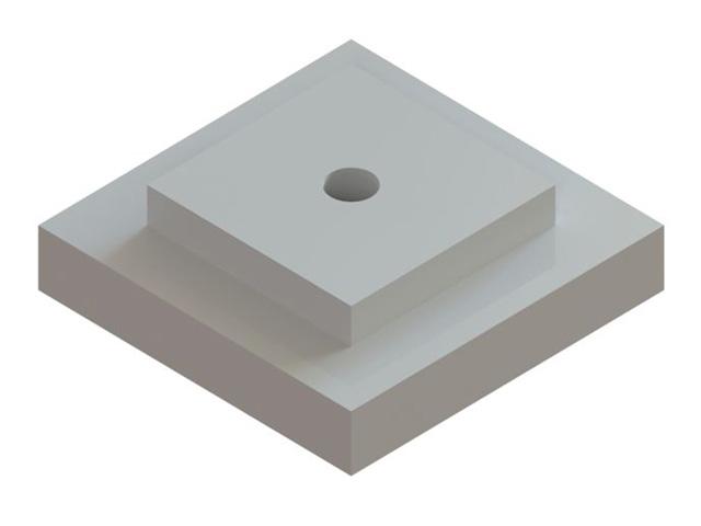Einzelteile F90 einzügig - Zwischenstützplatte für Kamineinführungsbogen mit Bohrung PolyLine PP oder NiroLine EW06