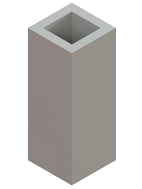 Einzelteile F90 einzügig - Schachtelement einzügig 600 mm