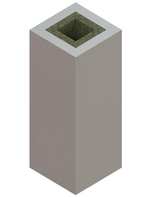 Einzelteile F90 einzügig - Werksgedämmtes Schachtelement einzügig 1195 mm einseitig offen
