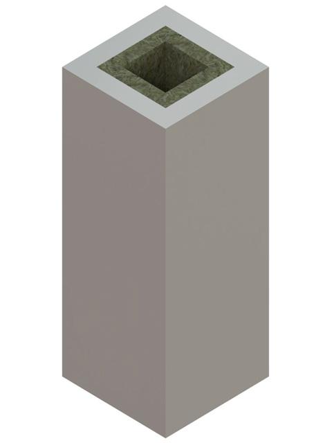 Einzelteile F90 einzügig - Werksgedämmtes Schachtelement einzügig 1195 mm