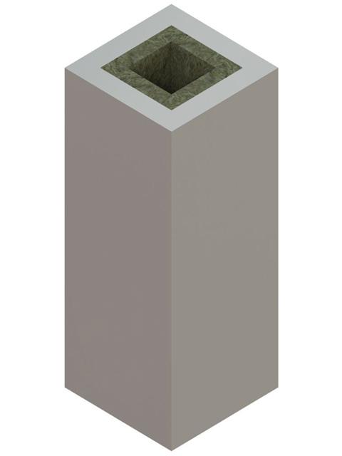 Einzelteile F90 einzügig - Werksgedämmtes Schachtelement einzügig 600 mm