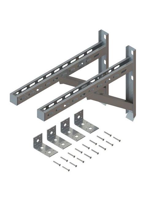 Einzelteile F90 einzügig - Konsolenpaar inkl. Haltewinkel zur Abstützung oberhalb von Umlenkungen