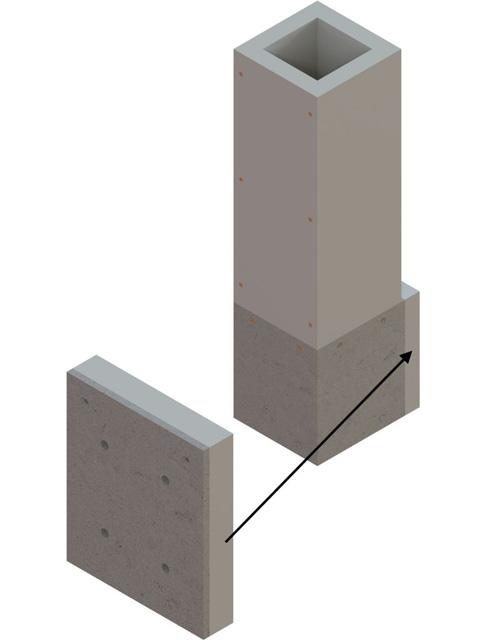 Einzelteile F90 einzügig - Distanzplatte für 50 mm Schachtabstand zu Wänden aus brennbaren Baustoffen