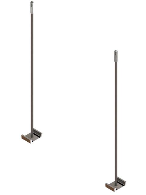Einzelteile F90 einzügig - Abhängeset ohne Schiene (max. alle 1200 mm)