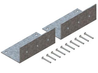Einzelteile F90 einzügig - Haltewinkelpaar für hängenden Einbau einzügiger Schächte in Zwischendecken sowie Zentrierung