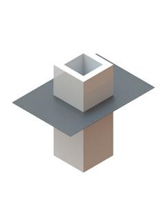 Dichtmanschette zum Anschluss an Dampfsperrenfolie mit Spezialkleber für einzügige Elemente 0° - 22°