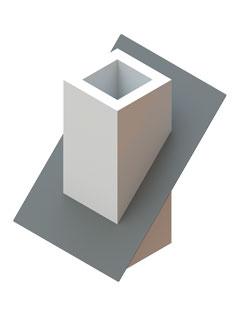 Dichtmanschette zum Anschluss an Dampfsperrenfolie mit Spezialkleber für einzügige Elemente 23° - 45°