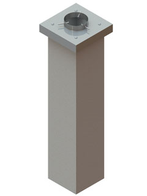 Einzelteile F90 einzügig - Verputztes Kopfschachtelement einzügig 1090 mm