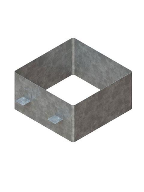Einzelteile F90 doppelzügig - Verbinder verzinkt mit zwei Auflagelaschen für doppelzügige Schachtelemente