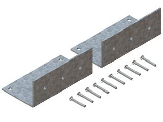 Haltewinkeldoppelpaar für hängenden Einbau des Schachtes in Zwischendecken oder auf Konsolen bei Verzügen