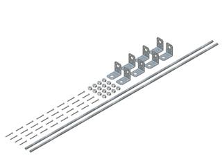 Einzelteile F90 doppelzügig - Sparrenhalterset für Montage am Dachsparren für alle Schachtgrößen