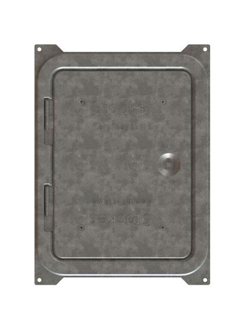 Einzelteile F90 doppelzügig - Putztür verzinkt mit Einsatzrahmen, Blower-Door-Dicht