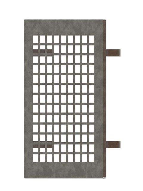 Einzelteile F90 doppelzügig - Lüftungsgitter innen