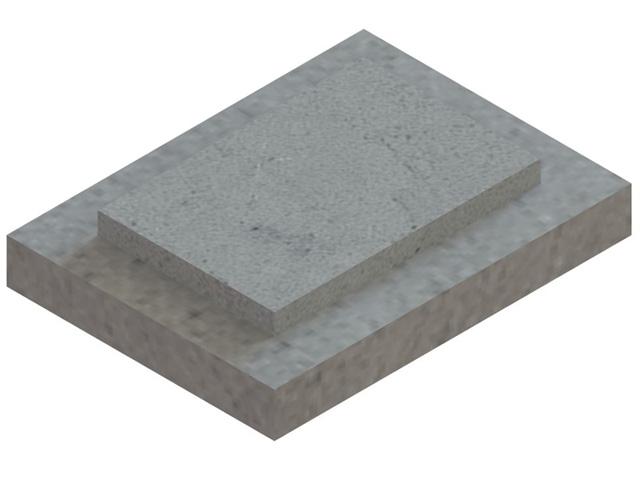 Einzelteile F30 - Doppelte Fußplatte für einzügige Schachtelemente