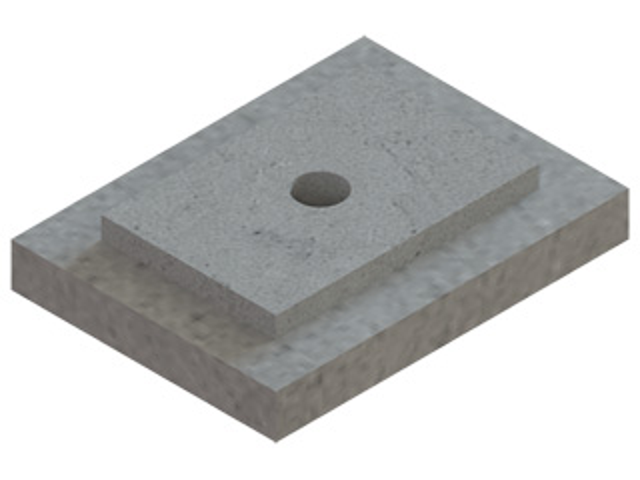 Einzelteile F30 - Zwischenstützplatte mit Bohrung für Einführungsbogen 87° PolyLine PP