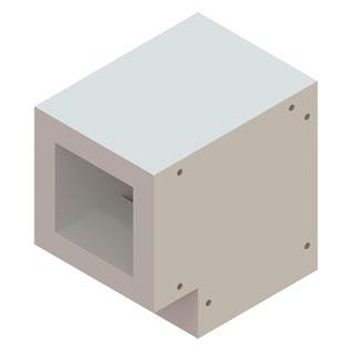Einzelteile F90 einzügig - Schachtumlenkungswinkel 90°