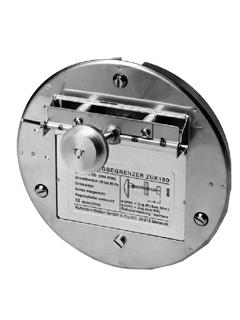 Zugbegrenzer & Zug-Ex Klappen - Zugbegrenzer Typ ZUK mit Explosionsklappe (Motorantrieb nicht nachrüstbar)
