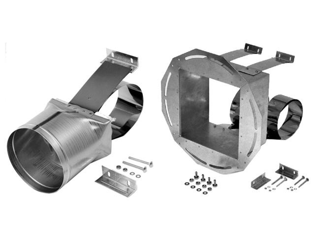 Anschlussstück für Zugbegrenzer mit und ohne Explosionsklappe für Kamindurchmesser DN130/150/180/250 passend