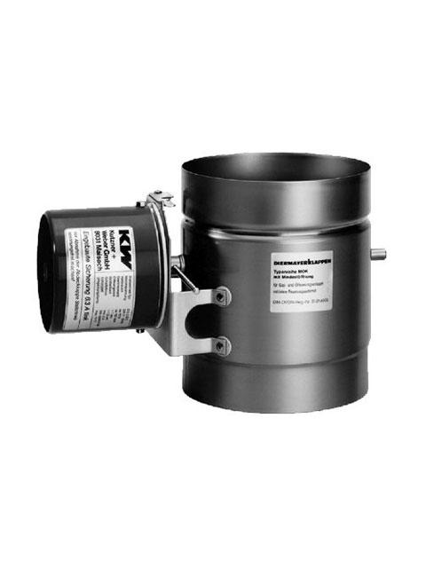 Motorische Abgasklappe Typ MOK mit Mindestöffnung für Pilotflamme für Gas- und Ölfeuerungsanlagen sowie Festbrennstoffe