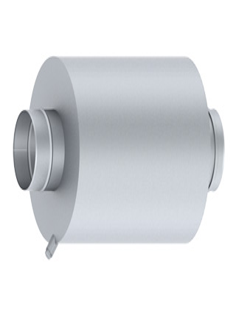 Passivschalldämpfer aus Edelstahl für Unter- und Überdruck bis 200 Pa und 200° C - Dämpfung bis max. 20 dB