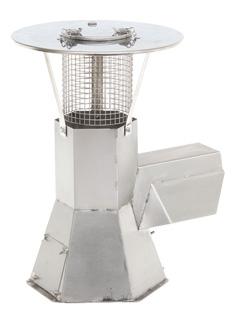 Anheizhilfen / Rauchsauger - Regenhaube für Rauchsauger mit aufklappbarer Reinigungsöffnung oben mit Funkenflugsieb