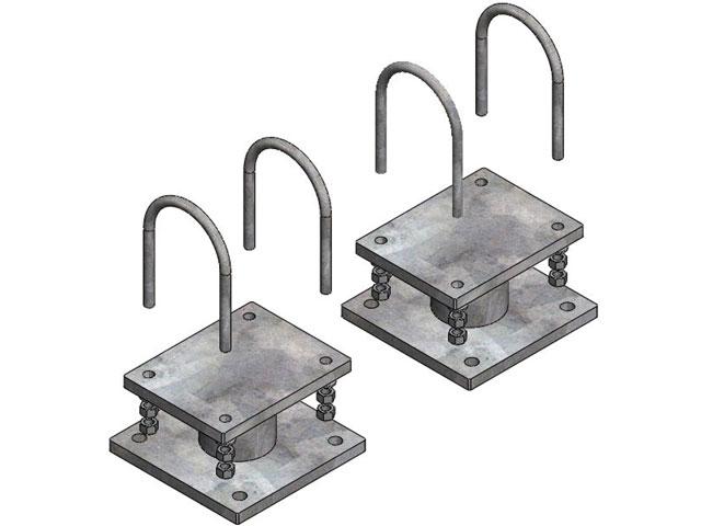Einzelteile - Konsolenpaar für Tragrohr von DN 300 - DN 650