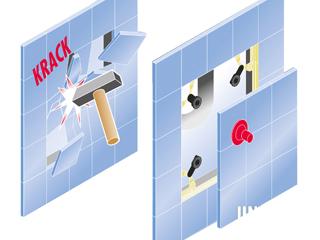 Uniflex - unsichtbare Fliesentürchen immer die bessere Lösung!