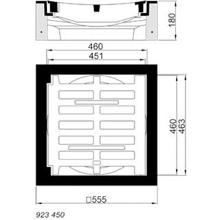 B/G Aufsatz / Einlaufgitter Kl. C 250, Rinnenform