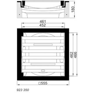 B/G Aufsatz / Einlaufgitter Kl. C 250, Pultform