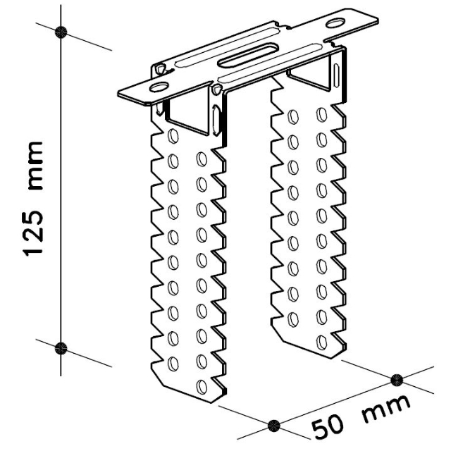 Direktabhänger für Holzlatten 50 mm