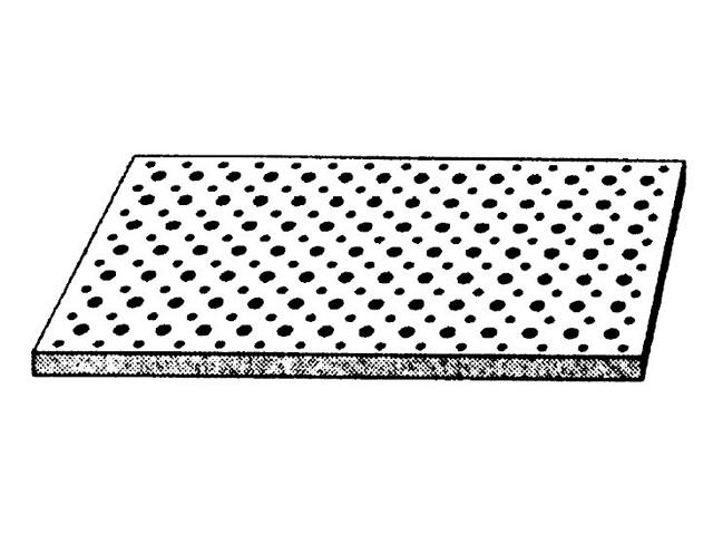 Cleaneo SK — Gelochte Gipsplatte für Schallabsorption versetzte Rundlochung