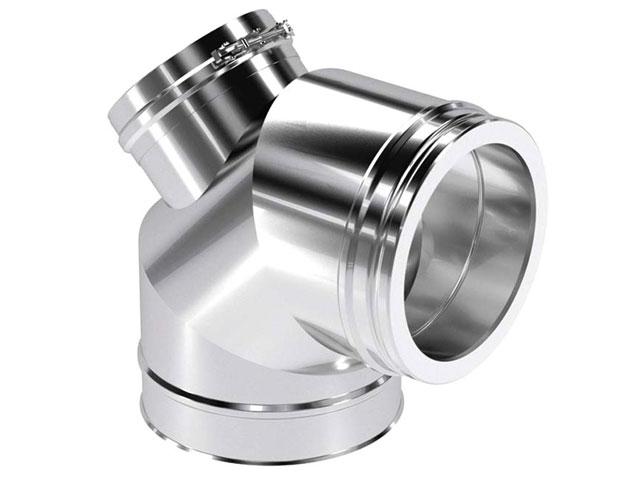 Bogen 85° mit Revisionsverschluss für Öl und Gas
