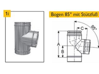 Bogen 85° + Stützfuß