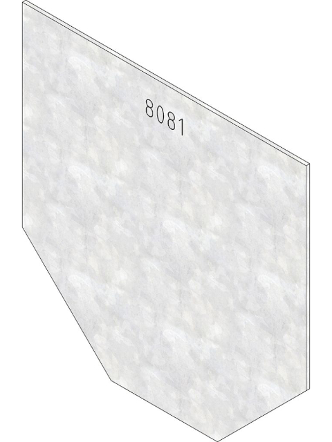 Produktbild Stirnwand geschlossen, Typ 01